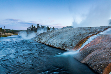 midway: Midway Geyser Basin in Yellowstone National Park, USA