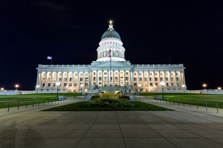 election night: Salt Lake City Capitol at night