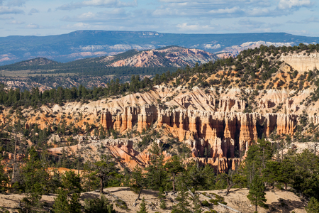 arial views: Views of the hiking trails in Bryce Canyon National Park, Utah