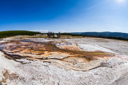 sapphire: ?Sapphire Pool in Yellowstone National Park, USA Stock Photo