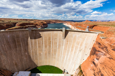 glen: Glen Canyon Dam, Arizona Stock Photo