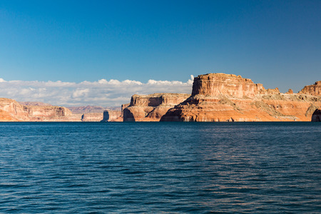 lake powell: View of the Glen Canyon on the Lake Powell from boat, Utah