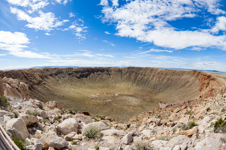 View of the Meteor Crater, Flagstaff, Arizona Stock Photo