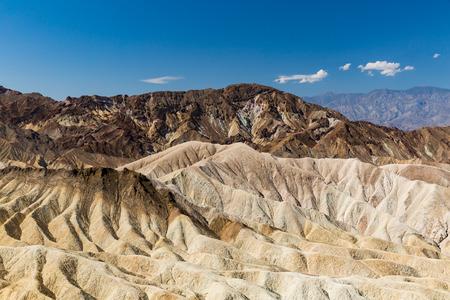 death valley: Zabriskie Point, Death Valley National Park Stock Photo