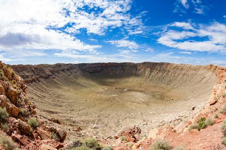 Vista del cráter del meteorito, Flagstaff, Arizona Foto de archivo