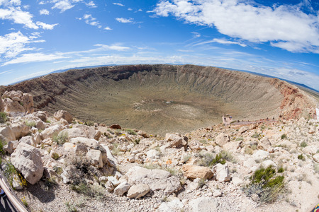View of the Meteor Crater, Flagstaff, Arizona 免版税图像