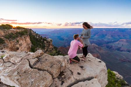 Voorstel in Grand Canyon, Arizona