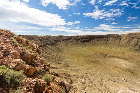 meteor: View of the Meteor Crater, Flagstaff, Arizona Stock Photo