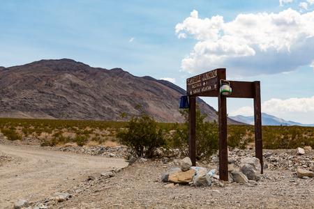 teakettle: Teakettle Junction, Death Valley National Park Stock Photo