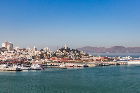 View from Treasure Island to San Francisco Editorial