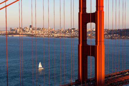 spencer: Golden Gate Bridge at sunset from Battery Spencer viewpoint