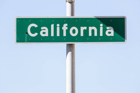 street name sign: California street name sign