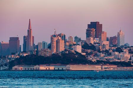 telegraph hill: San Francisco at sunset