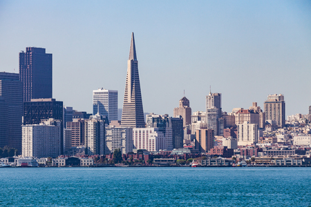 coit: View from Treasure Island to San Francisco Editorial