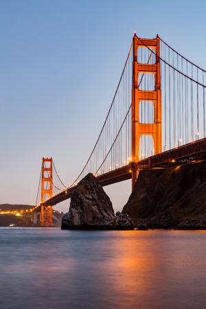san francisco golden gate bridge: ?San Francisco Golden Gate Bridge at sunset Stock Photo