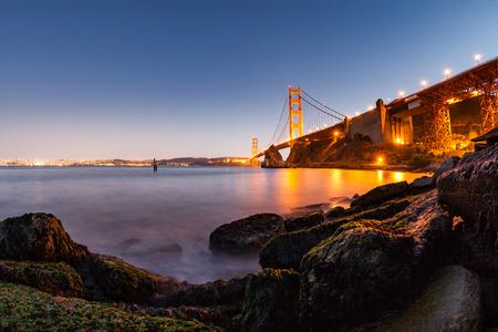 san francisco golden gate bridge: San Francisco Golden Gate Bridge at sunset Editorial