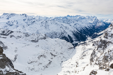 monch: Views from the ski resort Engelberg, Switzerland
