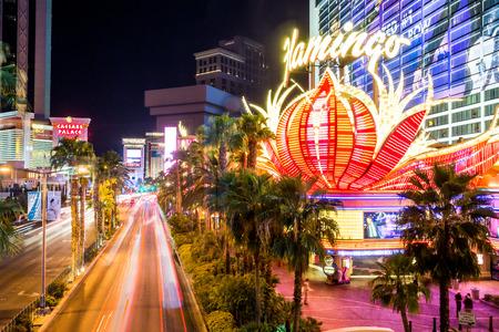 LAS VEGAS, NEVADA - SEPTEMBER 9: Exterior views of the Flamingo Casino Resort on the Las Vegas Strip on September 9, 2015. The Flamingo Casino Resort is a famous and popular luxury casino in Vegas. Editorial