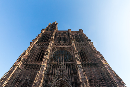 our lady: STRASBOURG, FRANCE - NOVEMBER 5: Exterior views of Cathedral of Our Lady in the old town part of Strasbourg on November 5, 2015. Strasbourg is a city in region Alsace in France.