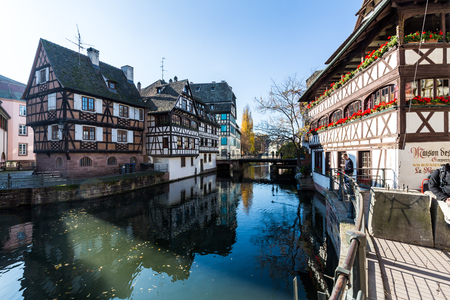 the little venice: COLMAR, FRANCE - NOVEMBER 5: Exterior views of historic buildings and landmarks in the old town part of Colmar on November 5, 2015. Colmar is a city in region Alsace in France.