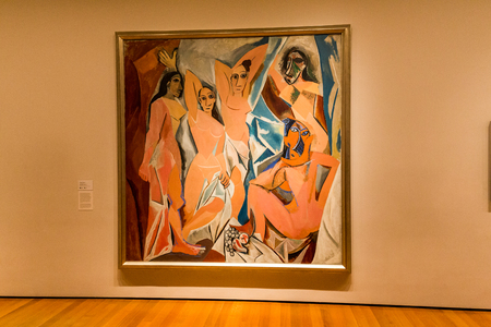 NEW YORK - AUGUST 23: Inside views of the Museum of modern art in New York on August 23, 2015. This is one of the most popular and famous museums worldwide for modern art.