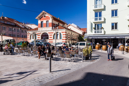 commune: GAP, HAUTES-ALPES, FRANCE - APRIL 7: Exterior views of the city of Gap on April 7, 2015. Its a commune in south-eastern France, the capital and largest settlement of the Hautes-Alpes department.
