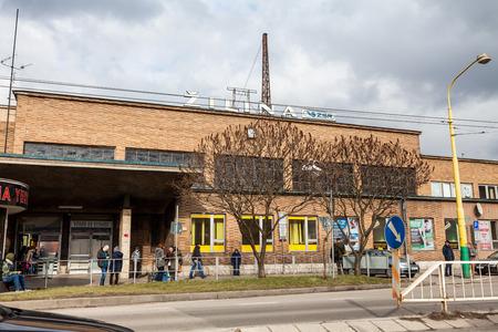 kilometres: ZILINA, SLOVAKIA - FEBRUARY 27: Main train station in the city centre of Zilina on February 27, 2015. Zilina is a city in north Slovakia, around 200 kilometres (120 mi) from the capital Bratislava. Editorial
