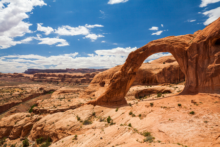 natural bridge state park: Corona Arch and the nature around in the Canyonlands National Park in Utah Stock Photo