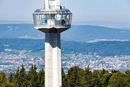 high frequency: Uetliberg Tower in Zurich, Switzerland