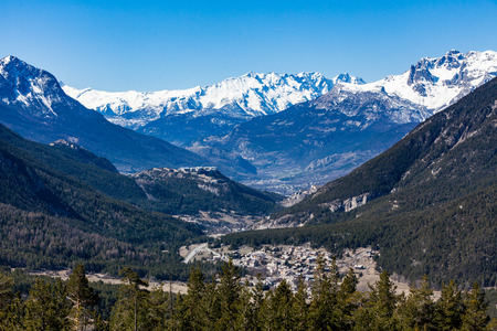 The Valley of Val-des-Pres, Briancon, France 2015 Stock Photo
