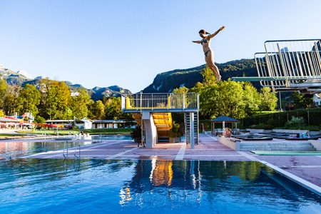 berchtesgaden: Girl in a public baths in Berchtesgaden