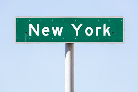 street name sign: American custom street name sign with an individual text Stock Photo
