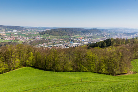 overlook: Valley of Limmat overlook, Aargau, Switzerland