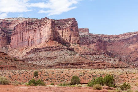 off road biking: Views of the nature along the White Rim Road in Canyonlands, Utah