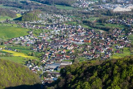 arial views: The Mountain Wasserflueh in caton of  Aargau, Switzerland