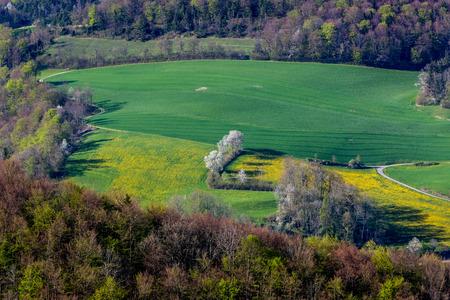 generative: The Mountain Wasserflueh in caton of  Aargau, Switzerland