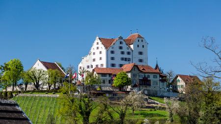 aargau: Castle Wildegg in the canton of Aargau, Switzerland in spring 2015