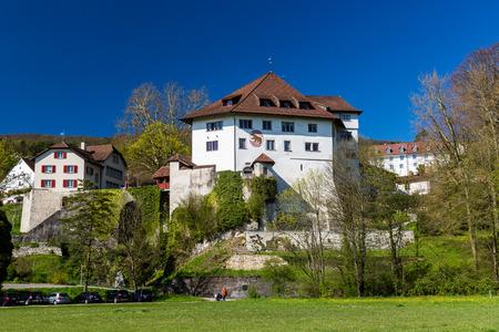 aargau: Castle Biberstein in the canton of Aargau, Switzerland in spring 2015