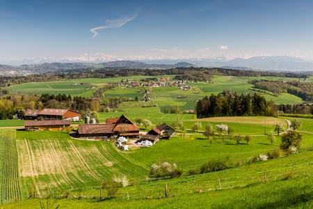 mutschellen: Mountain Heitersberg with view to Uetliberg, near Zurich, Switzerland