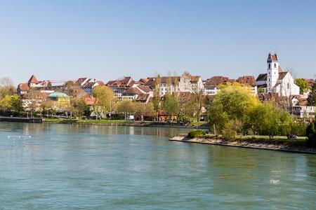 Overlook de la vue Paysage urbain de Aarau, Suisse Banque d'images