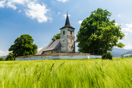 ruzomberok: View of a gothic church in Ludrova village near Ruzomberok in Slovakia, summer 2015