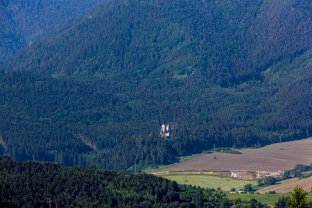 ruzomberok: View of the Castle Likavka near Ruzomberok in Slovakia in summer 2015