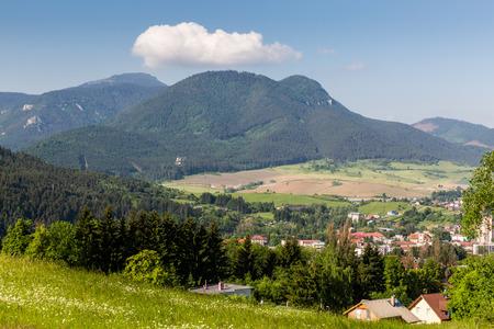 d1: View of the Castle Likavka near Ruzomberok in Slovakia in summer 2015
