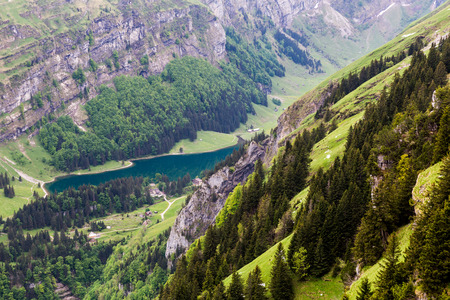 appenzeller: Views of Ebenalp in the small canton of  Appenzell in Switzerland in May 2015