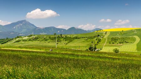in low spirits: View of the mountain Choc in Liptov region between the cities Ruzomberok and Liptovsky Mikulas in Slovakia, summer 2015 Stock Photo