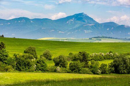 choc: View of the mountain Choc in Liptov region between the cities Ruzomberok and Liptovsky Mikulas in Slovakia, summer 2015 Stock Photo