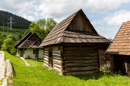 ruzomberok: CERNOVA, SLOVAKIA - JUNE 1, 2015: Exterior views of the village Cernova near Ruzomberok, Slovakia on June 1, 2015. Its a picturesque village under the administration of the town Ruzomberok. Editorial