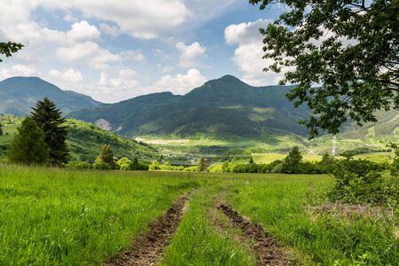 ruzomberok: Nature in Cernova village near Ruzomberok in Slovakia in summer 2015. Editorial