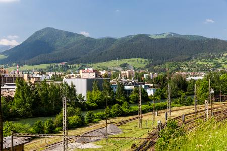 ruzomberok: RUZOMBEROK, SLOVAKIA - JUNE 4, 2015: View of the industry area in Ruzomberok, Slovakia on June 4, 2015. Ruzomberok is a small town in the north of Slovakia.