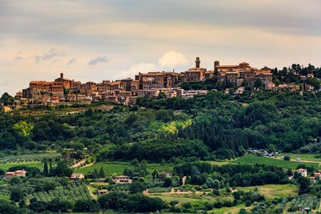 montepulciano: View to Montepulciano in the region of Siena, Italy Stock Photo